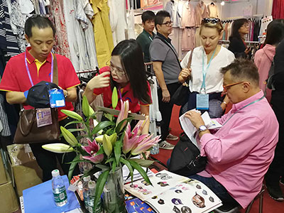 Clients at Canton Fair