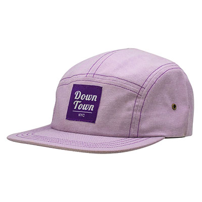 High Quality 5 Panel Caps with Woven